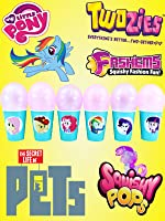 MY LITTLE PONY Balloon Toy Surprise Cups with Equestria Girls Twilight Sparkle, Pinkie Pie, and Rainbow Dash
