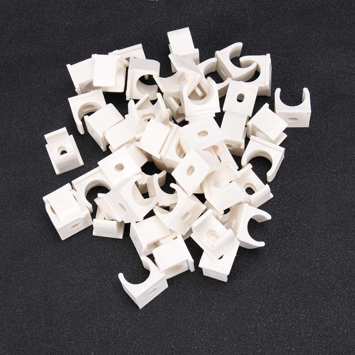 DOITOOL 50 st/ücke pex rohr unterst/ützung kleiderb/ügel 3//4 zoll u-haken pex halter pvc rohrschellen clips 20mm