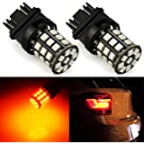 JDM ASTAR AX-2835 Chipsets 3056 3156 3157 4157 LED Bulbs for Turn Signal,Amber Yellow ( Only work for standard socket , not for ck socket)
