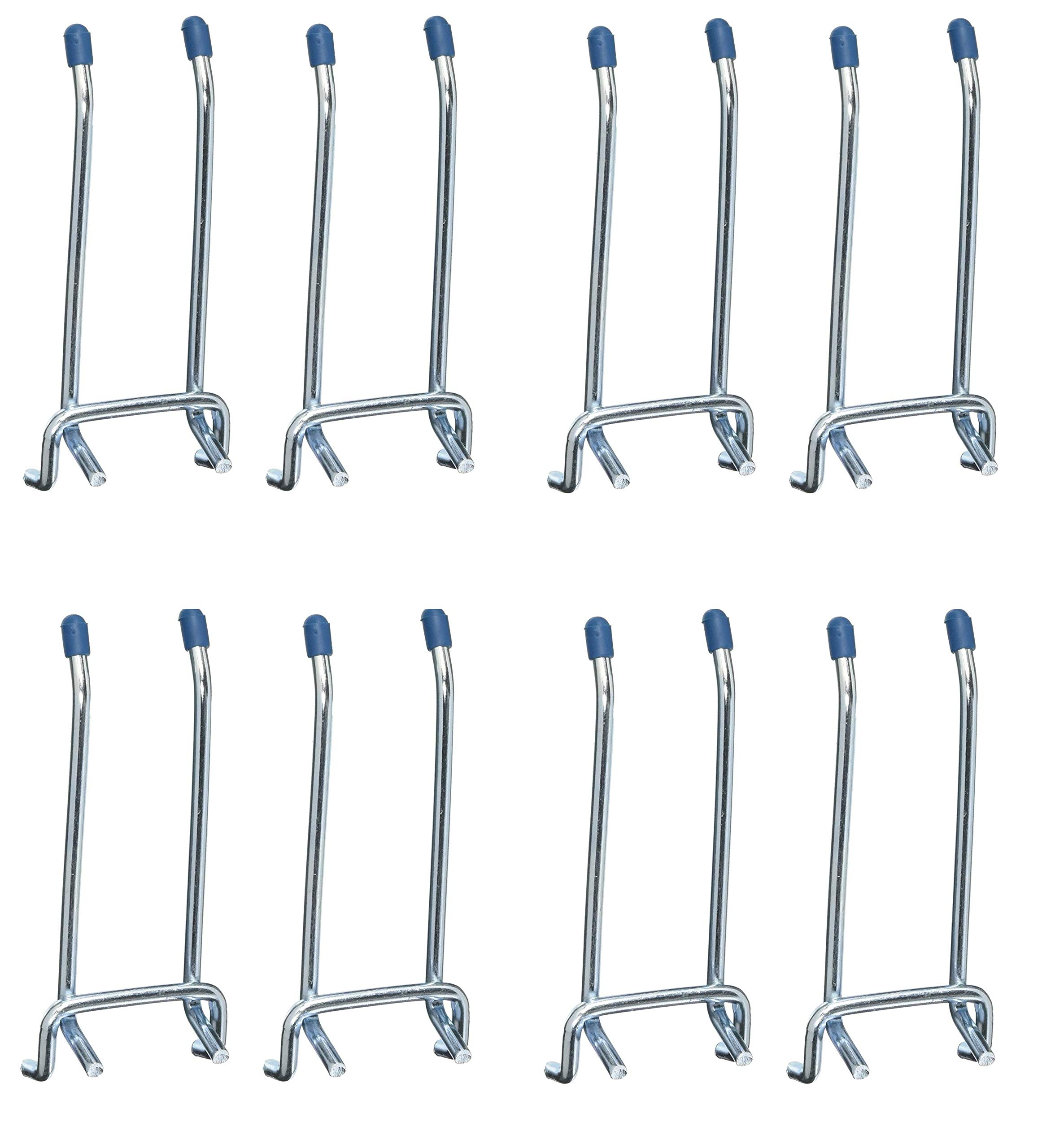 CRAWFORD PROD DIV OF JARDEN SAFETY 14444 Double Arm Peg Hook, 4-Inch, Sold as 4 Pack, 8 Hooks Total
