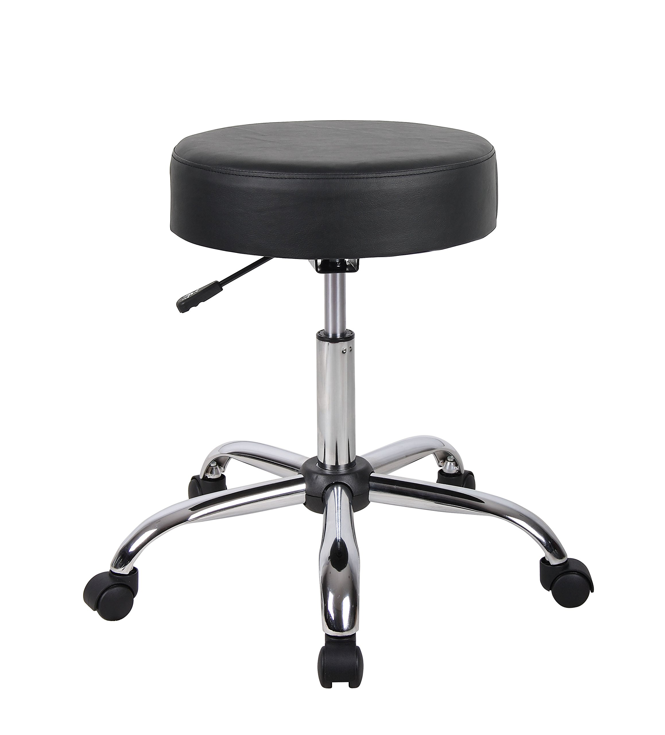 Boss Office Products B240-BK Be Well Medical Spa Stool in Black by Boss Office Products