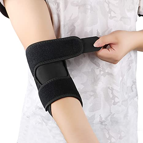 Ntrh Elbow Support Fully Adjustable Elbow Brace Arthritic Pain Relief Sports Injury Rehabilitation Tennis Elbow Support Strap Single Small Amazon Co Uk Health Personal Care