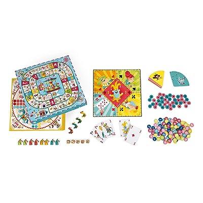 Janod- Estuche Multijuegos, Color Amarillo y Azul (Juratoys SAS J02742): Juguetes y juegos
