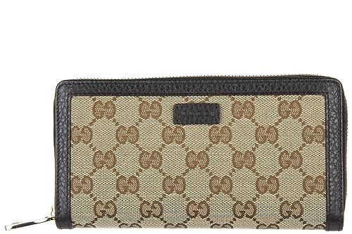 Gucci monedero cartera bifold de mujer nuevo gg negro: Amazon.es: Zapatos y complementos