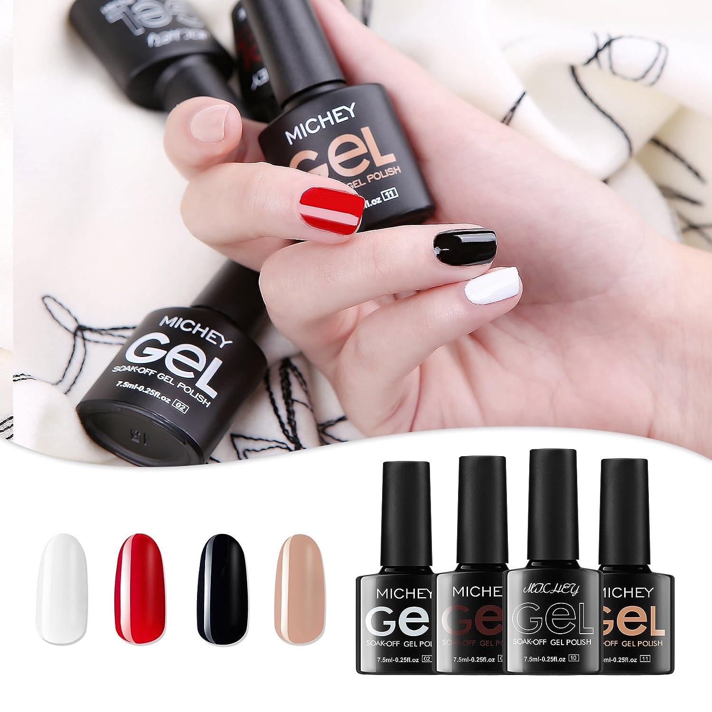 Amazon.com : MICHEYGel UV Gel Nail Polish, pack of 4, Gel Nail ...