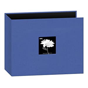 Pioneer 12-Inch by 12-Inch Fabric 3-Ring Binder Album with Window, Blue