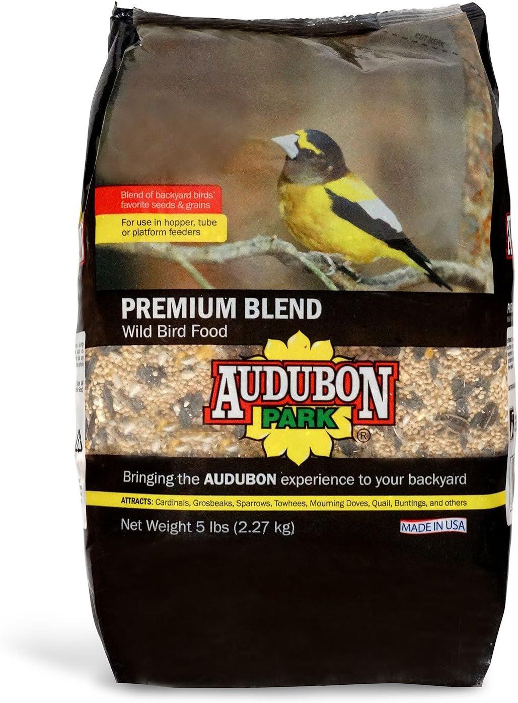 Audubon Park 12225 Premium Blend Wild Bird Food, 5-Pounds