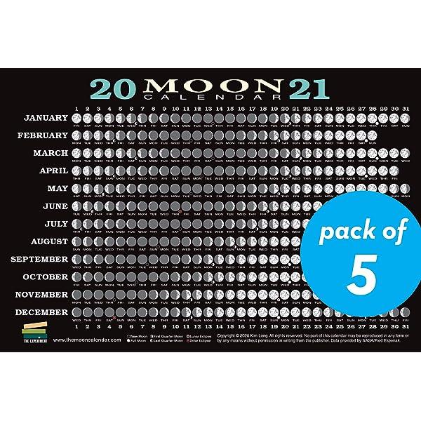 Moon Calendar February 2022.2020 Moon Calendar Card 40 Pack Lunar Phases Eclipses And More Long Kim 9781615195565 Amazon Com Books