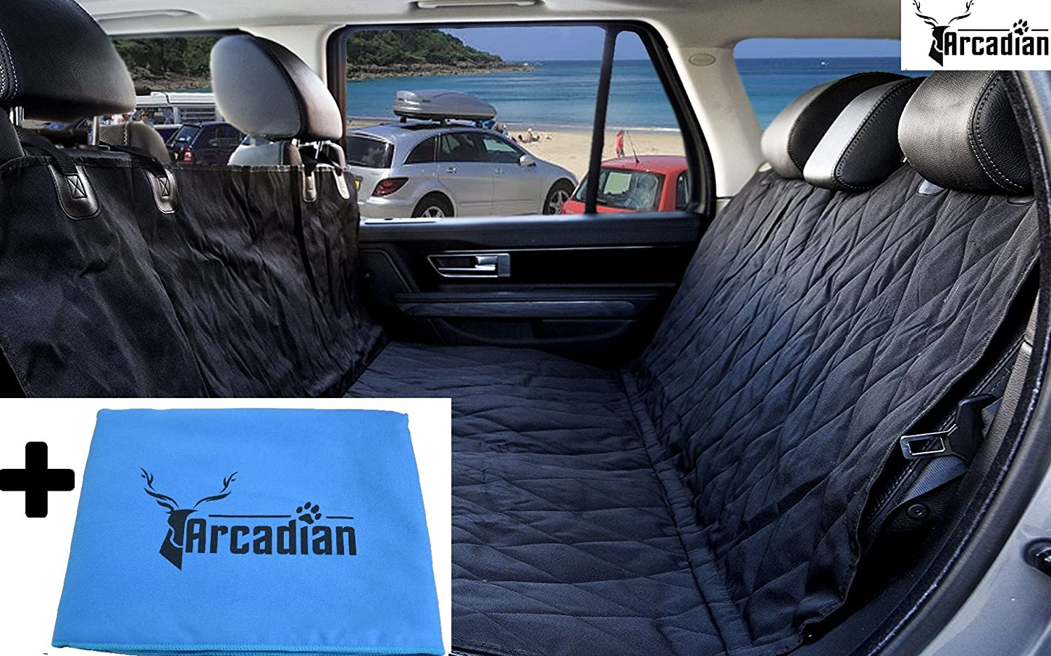 Arcadian Dog Car Seat Cover Waterproof and Scratch Proof Non-Slip Back Seat Cover. Arcadian Supplies