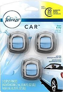 Febreze Car Vent Clips Linen and Sky Air Freshener, 0.04 Pound