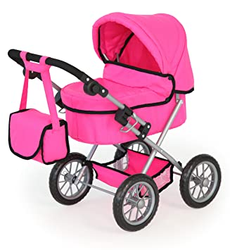 Amazon.es: Bayer Design - Cochecito de muñeca, Trendy, color rosa (13029AA): Juguetes y juegos