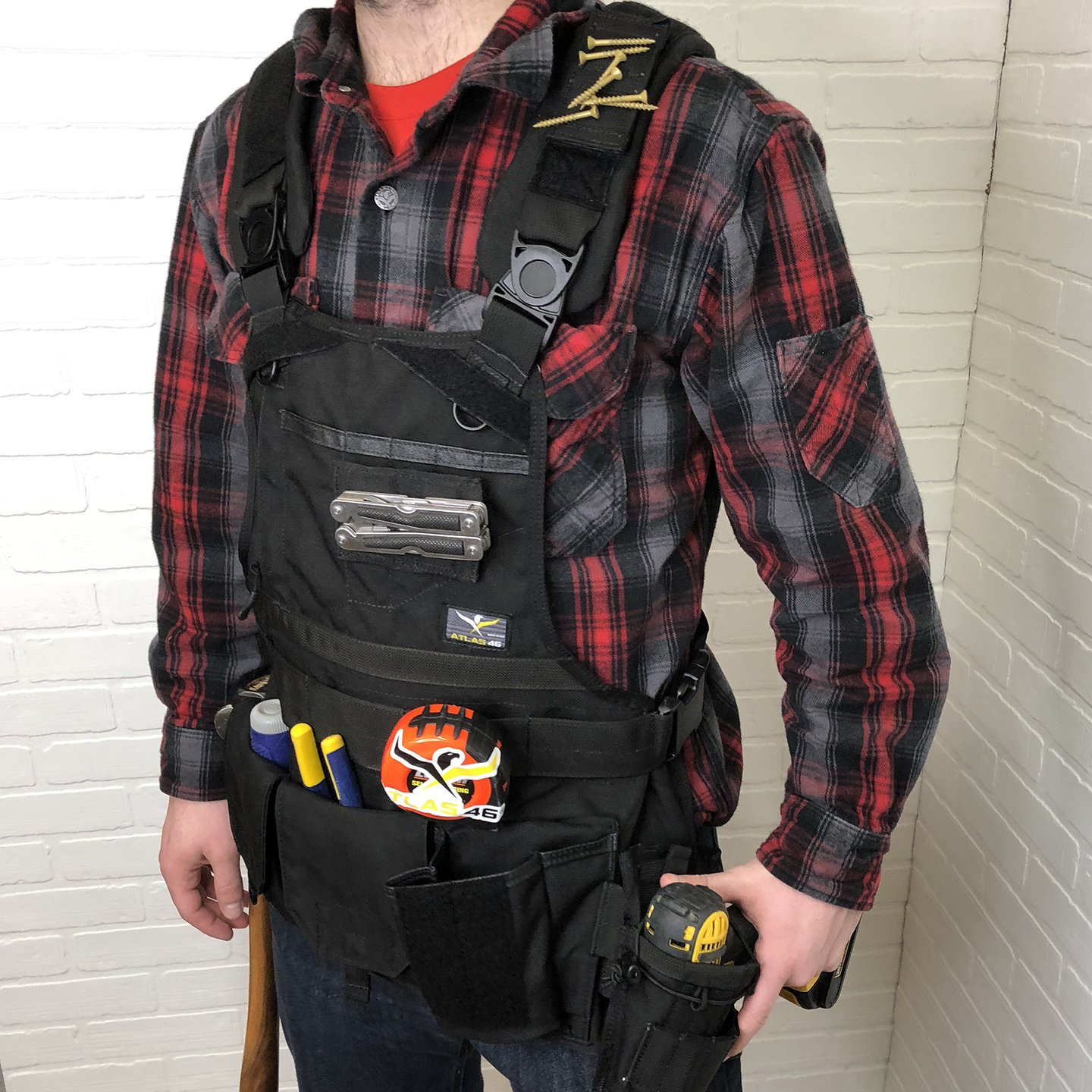 Atlas 46 Journeyman Chest Rig with Cargo Pockets, Black by Atlas 46