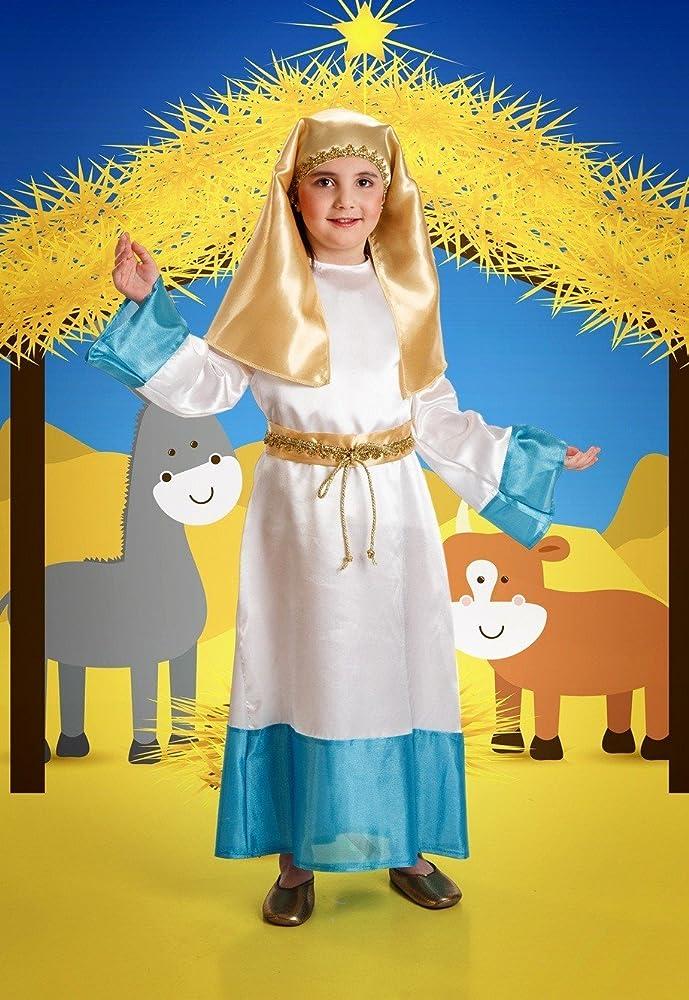 Disfraz de Virgen Infantil Talla 3-5 Años: Amazon.es: Ropa y ...