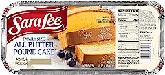 Sara Lee Foods Family Size Pound Cake, 16 oz (frozen)