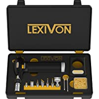 LEXIVON Butane Torch Multi-Function Kit | Premium Self-Igniting Soldering Station with Adjustable Flame | Pro Grade 125…