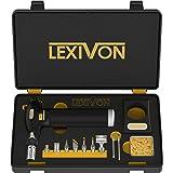 LEXIVON Butane Torch Multi-Function Kit | Premium Self-Igniting Soldering Station with Adjustable Flame | Pro Grade 125-Watt