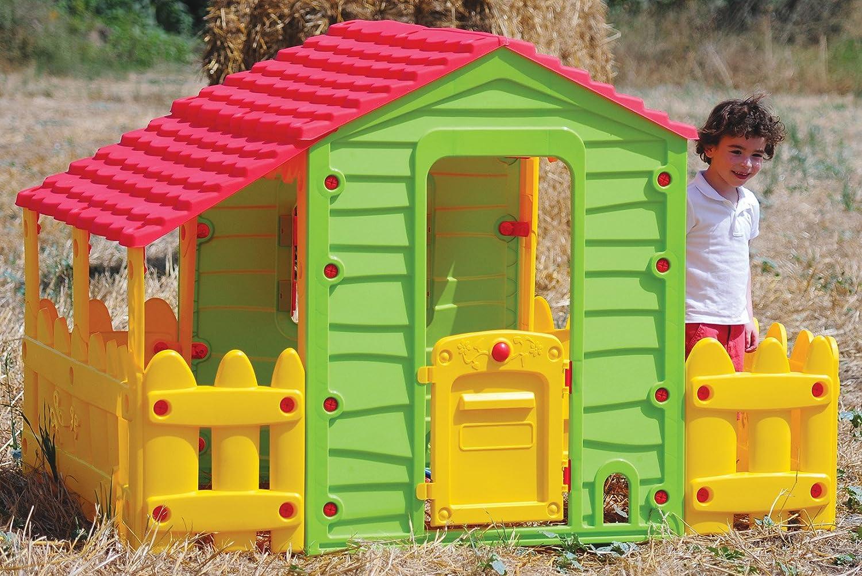 Sommerküche Smoby : Woodienchen spielhaus mit garten fenster und tür 118x127x186 cm