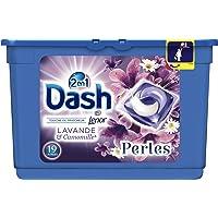 Dash 2en1 Perles Lessive en Capsules Lavande & Camomille 19 Lavages - Lot de 2