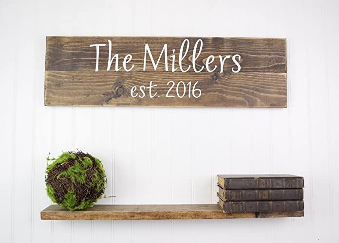 Personalized Family Name Sign Personalized Wedding Gifts Wall Art Rustic  Home Decor Custom Wooden Signs