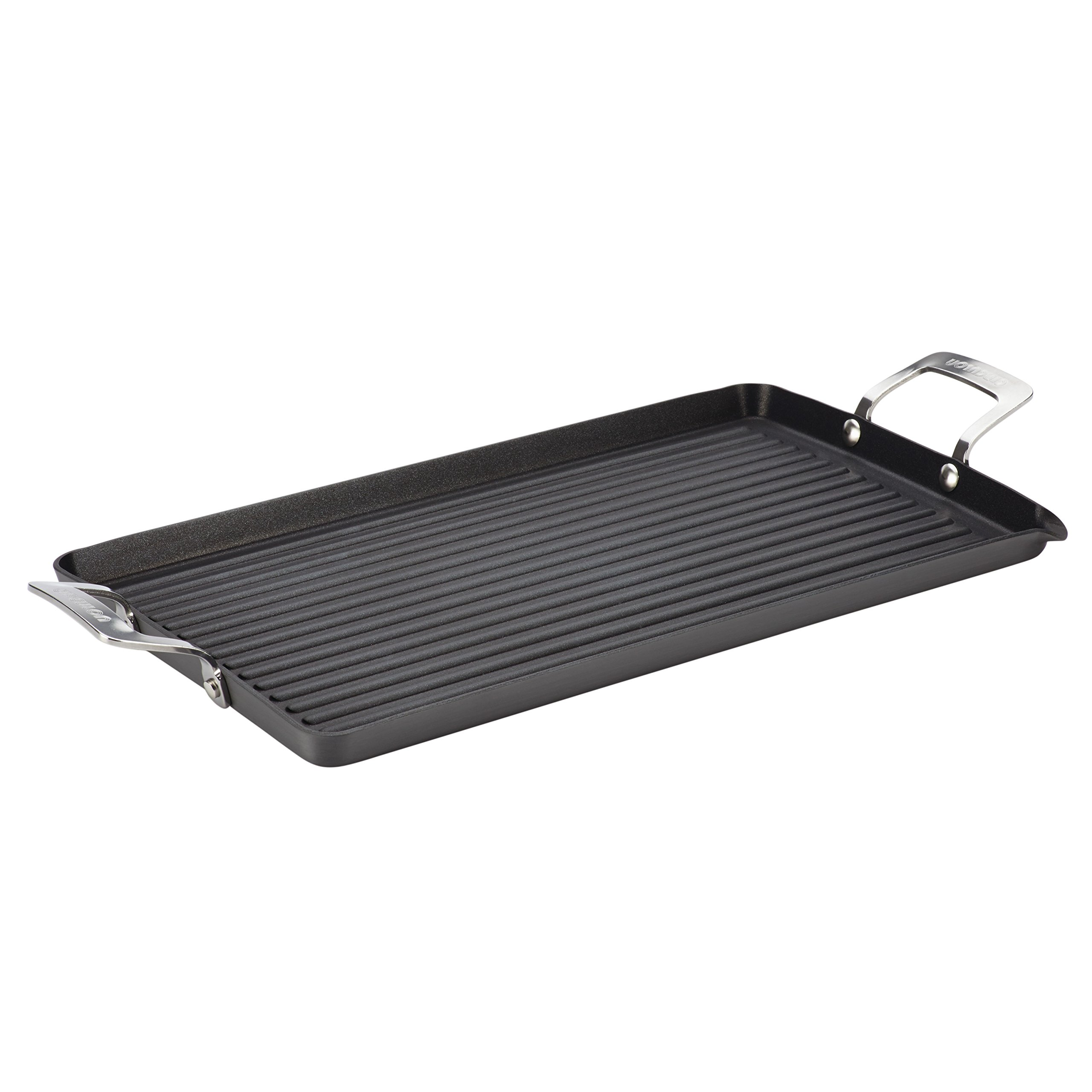 Circulon Hard-Anodized Nonstick 18-Inch by 10-Inch Double Burner Griddle with Pour Spout