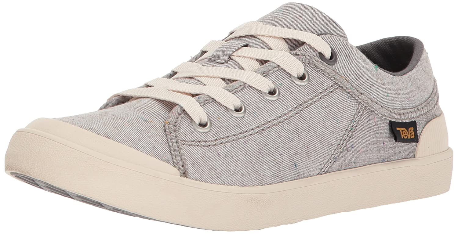 Teva Womens Women's W Freewheel Slubby Canvas Sneaker B072K4NQBD 5.5 B(M) US|Dark Grey/Multi