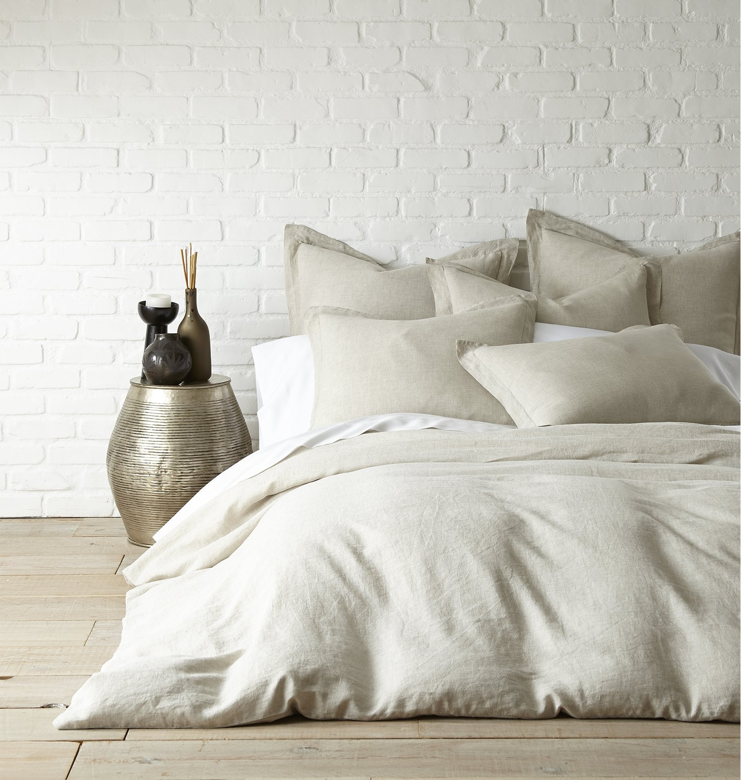 Washed Linen Natural Queen Duvet Cover