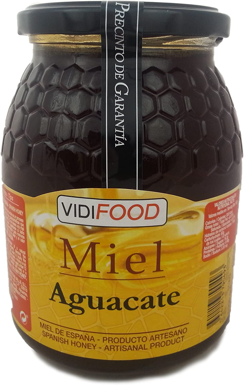 Miel de Aguacate - 1kg - Producida en España - Alta Calidad, tradicional & 100% pura - Aroma Floral y Sabor Rico y Dulce - Amplia variedad de ...