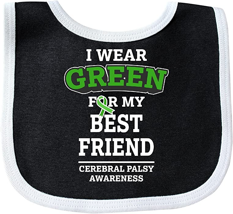 832e42033c0 Amazon.com: Inktastic - I Wear Green For My Best Friend For Baby Bib Black/White  2ee22: Clothing