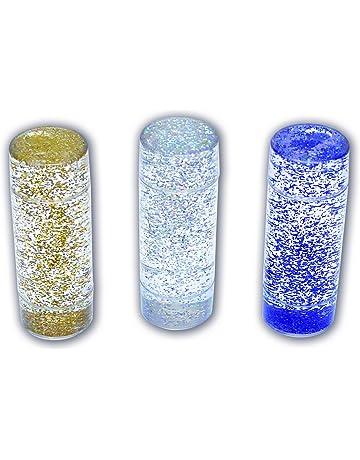 TickiT 92104 Conjunto de juguetes sensoriales con purpurina, 50 mm de diámetro, 3 piezas