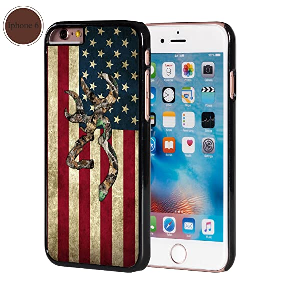 separation shoes 2a105 890bd Browning Deer Camo American Flag iPhone 6 Case Black Plastic
