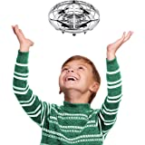 Hand Operated Drone for Kids - Scoot Light Up Drone Flying Toys for Boys or Girls, Motion Sensor Drone Mini Hand Drones for Kids or Beginners (Silver)