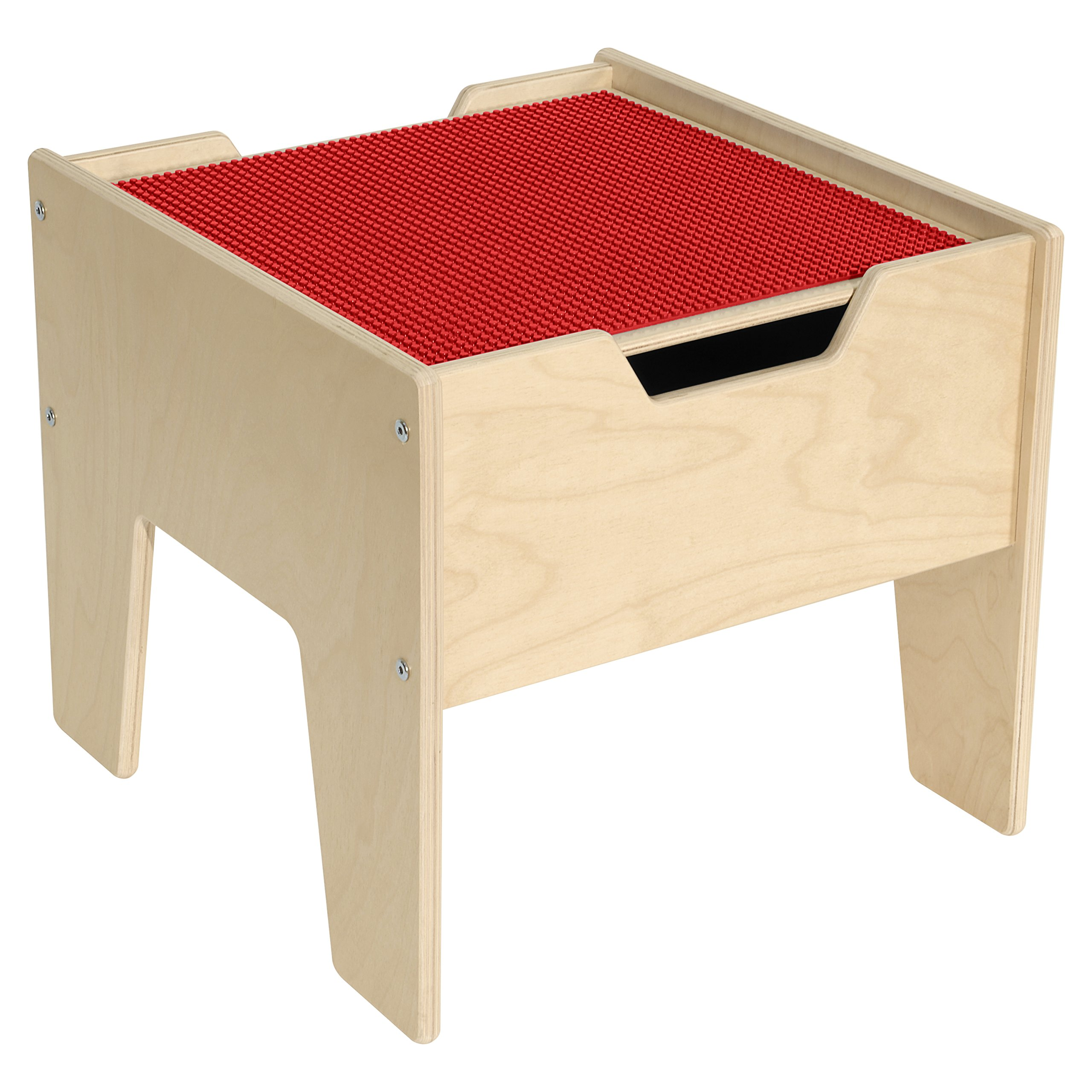 Contender C991300-R 2-N-1 Activity Table with Red Lego Compatible Top - RTA by Contender