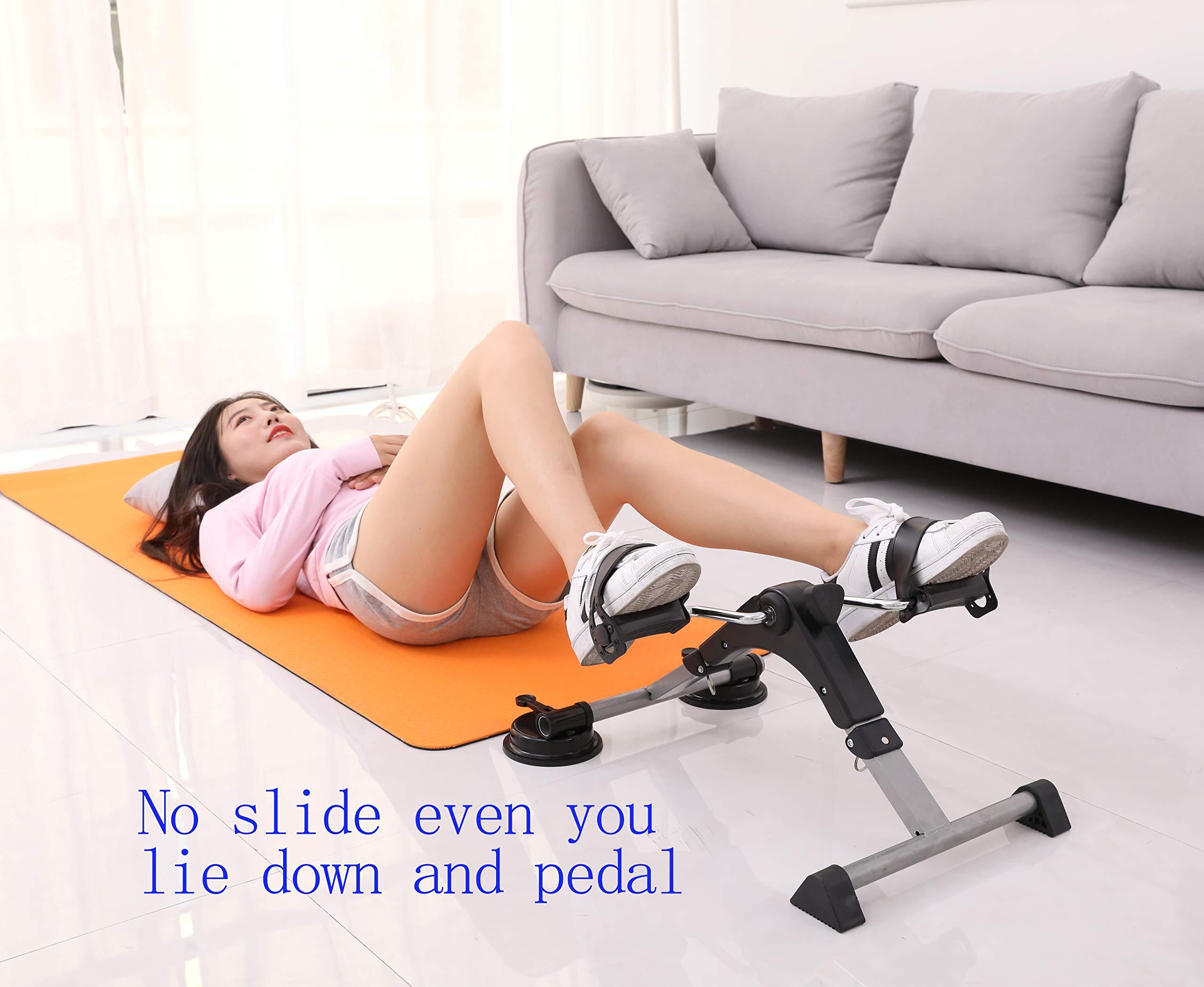 MOMODA Anti-Slip Foot for Mini Exercise Bike Stopper and Holder Anti-Slip Sucker for Pedal Exerciser or Leg Exerciser 2 pcs (26MM) by MOMODA (Image #5)