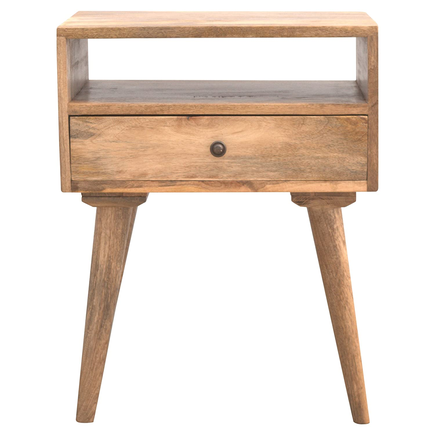 Artisan Furniture Nordic Designed Bedside with 1 Drawer & Open Slot, Wood, Natural Oak/Ish Finish Global Vision Company IN143