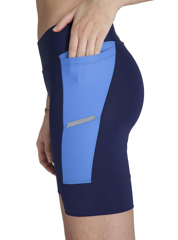 Soft Padded Quick Dry Chamois Swim//Bike//Run Made in The USA Side Pockets MooMotion Womens Triathlon Shorts