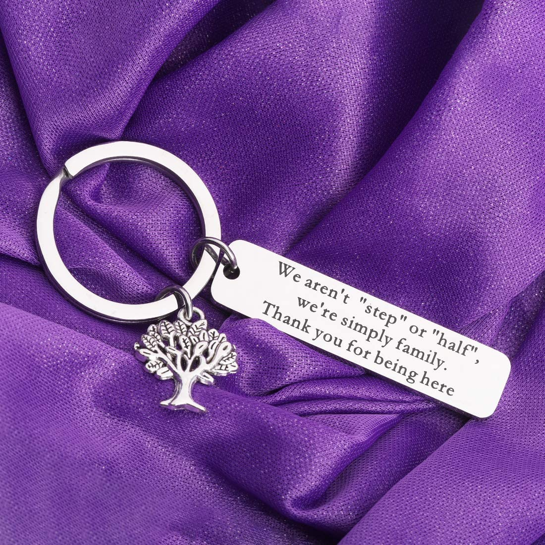 CENWA Adoption Gift Step Blended Family Tree Jewelry Step Mom Gift Step Parent Adoption Child Gift We Aren/'t Step Or Half We/'re Simply Family