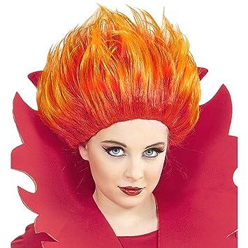 Peluca Llamas de fuego unisex-child, rojo, talla única, vd-wdm74592: Amazon.es: Juguetes y juegos
