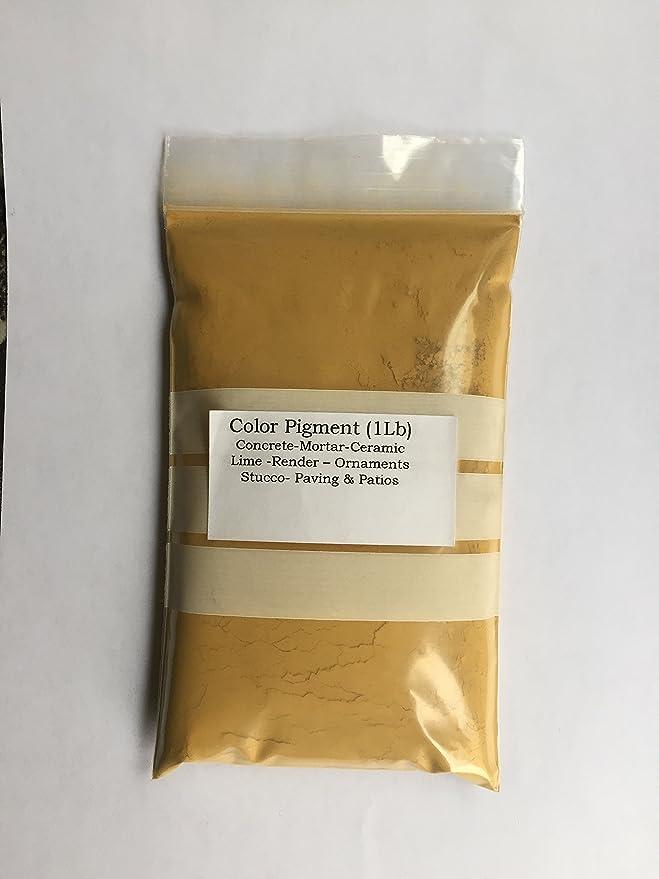 Ocre amarillo (1 libra) Pigmento/tinte para hormigón, yeso ...