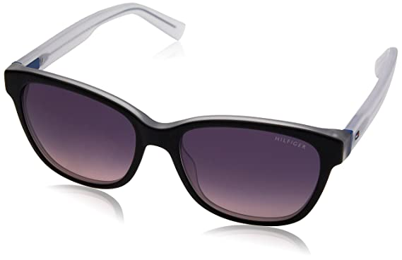 Tommy Hilfiger TH 1363/S O9 Gafas de Sol, Black Crystal Blue, 54 Unisex-Adulto