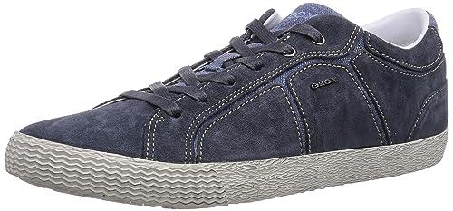 Geox U SMART S - zapatilla deportiva de cuero hombre, color azul, talla 47: Amazon.es: Zapatos y complementos