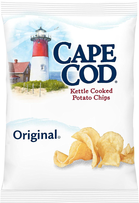 Cape Cod Chips Logo Part - 35: Amazon.com: Cape Cod Original Salted Kettle Potato Chips, 1.5 Ounce (Pack  Of 42)