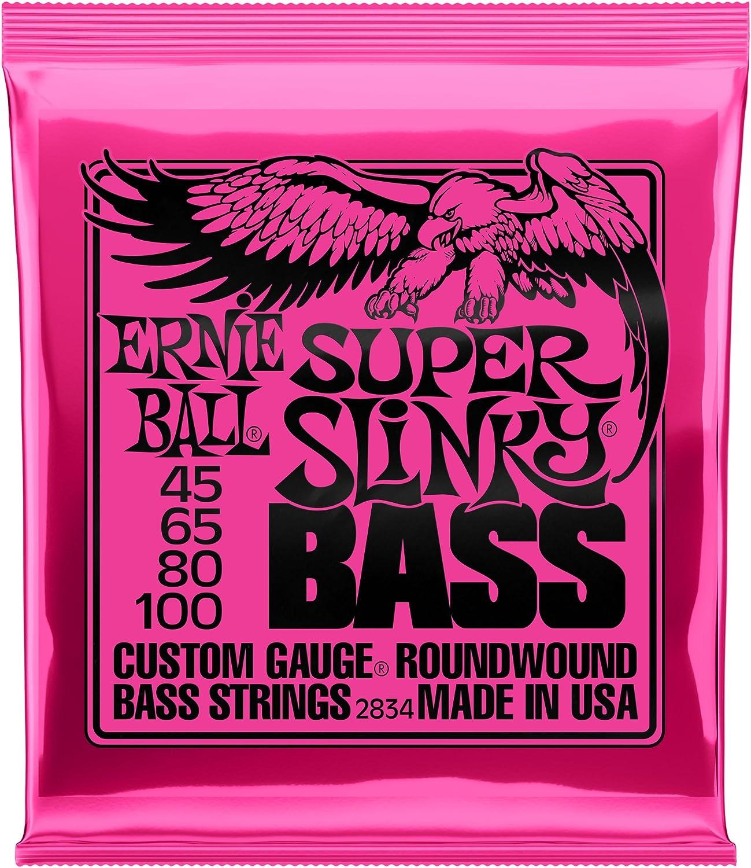 """2 x Ernie Ball 2834 Super Slinky Bass Satz 045/""""-100/"""""""