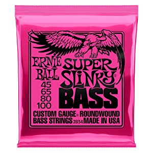 Ernie Ball Super Slinky Nickel Round Wound Bass Set, .045 - .100