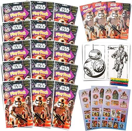 Amazon.com: Juego de 15 paquetes de pegatinas de Star Wars ...