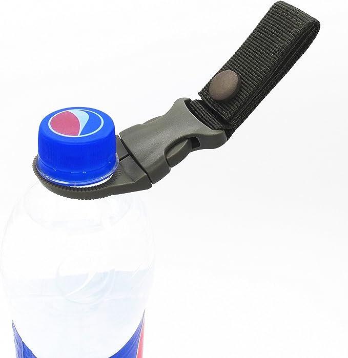 Water Bottle Holder Clip Hiking Tactical Carabiner Belt Buckle Outdoor Camping