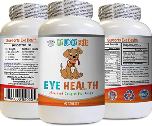 MY LUCKY PETS LLC Dog Immune Booster – Dog Eye Health – Advanced Formula – Benefits Vision – Immune Support – Dog Vitamins for Skin and Coat – 1 Bottle 60 Treats