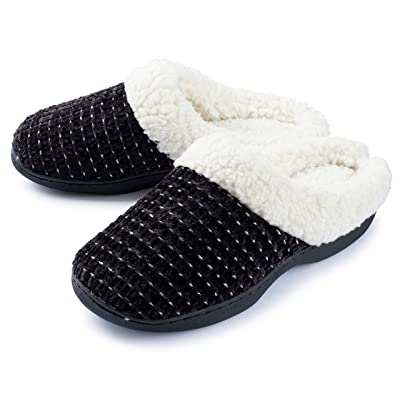 Roxoni Women's House Slippers Knit Fleece Lined Cozy Clog House Shoes | Slippers
