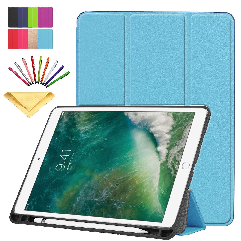 【待望★】 Uliking iPad Pro Pro Pro 10.5インチ2017ケース スマートスリム軽量三つ折りスタンドブックビジネスカバー ペンシルホルダー付き B07KXVVFPT ソフトTPUバックシェル [自動スリープ/スリープ解除] Apple iPad Pro 10.5タブレット用 ブルー 01 Skyblue B07KXVVFPT, 蘇州林:7cf1f087 --- a0267596.xsph.ru
