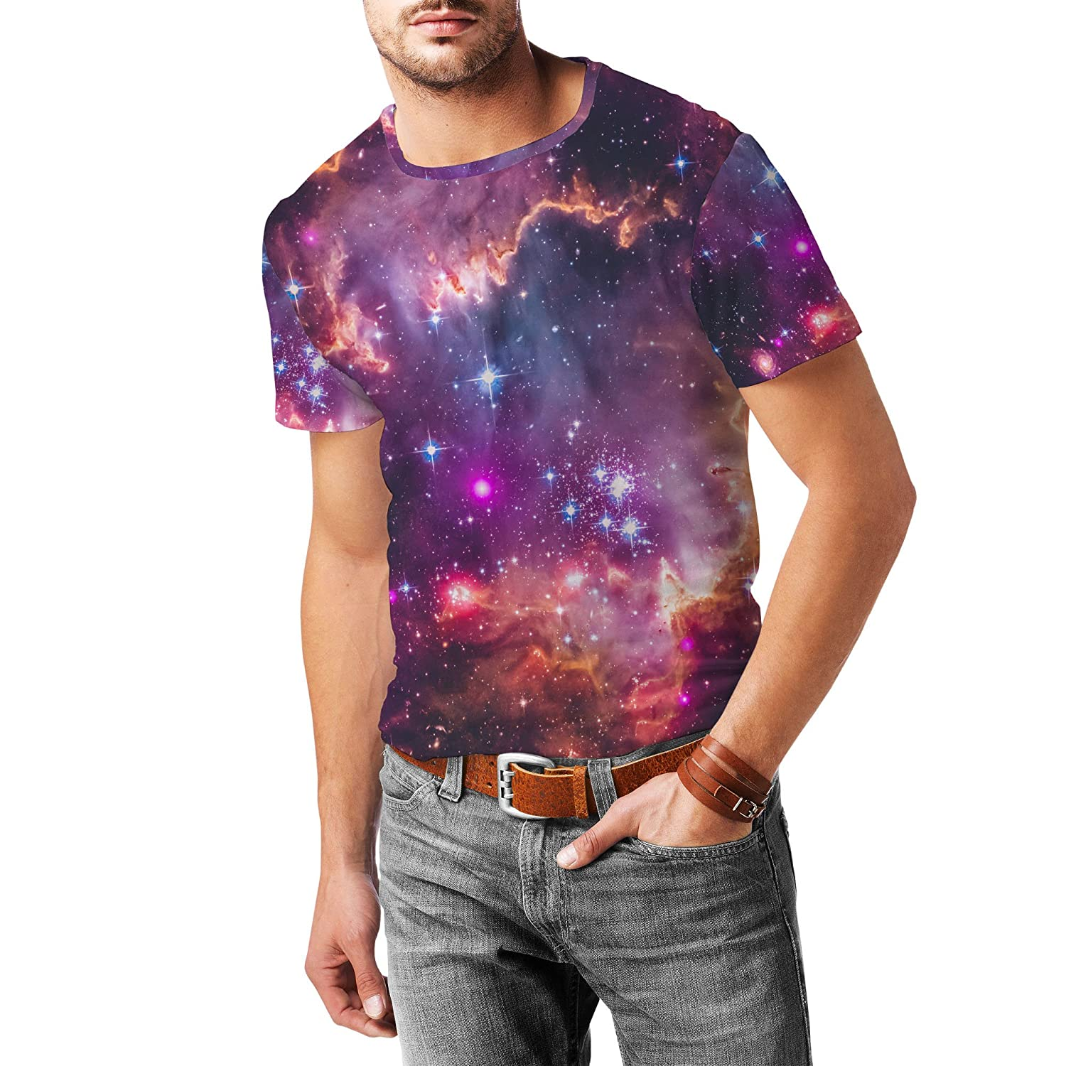 Fairytale Galaxy Mens Sport Mesh T-Shirt