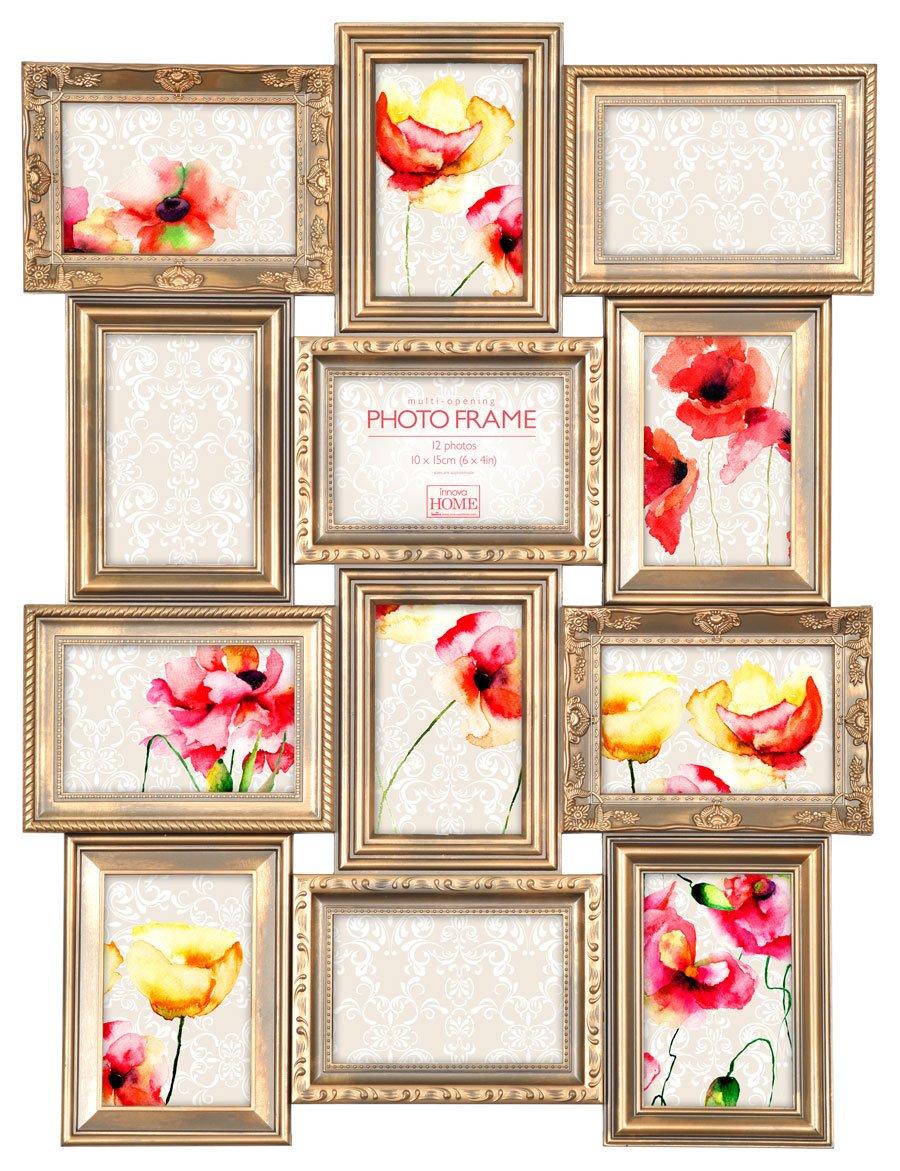 Amazon.de: Maggiore Gold Bilderrahmen für 12 Fotos 10x15 cm Bilder ...